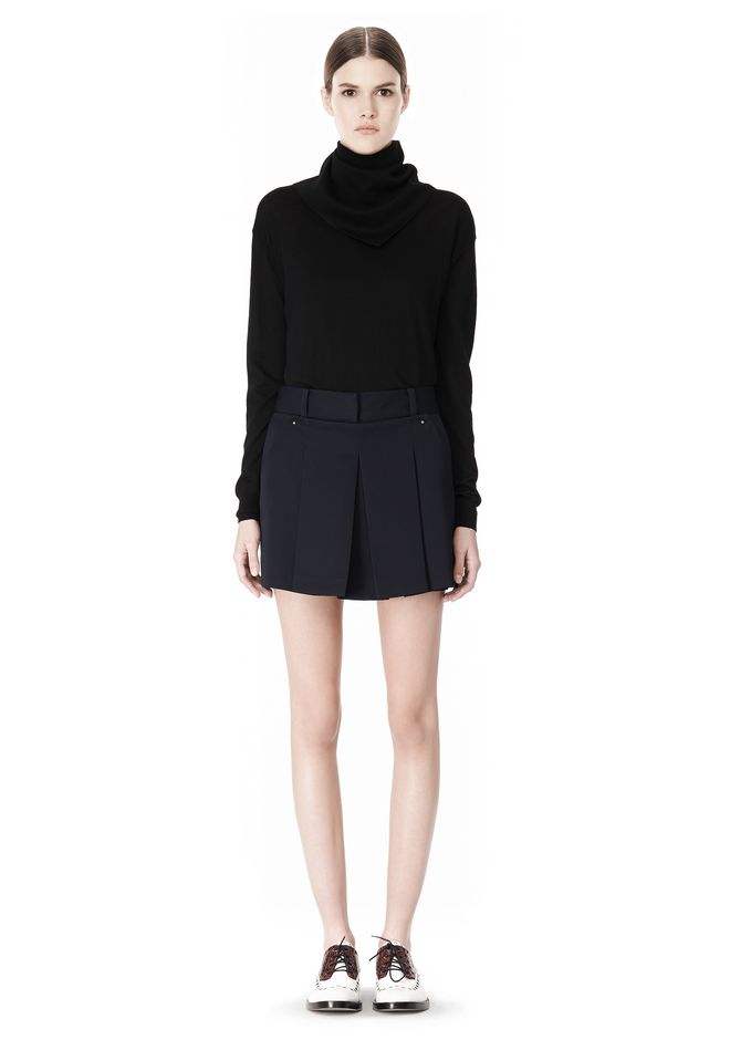 ALEXANDER WANG PLEATED FRONT SKORT WITH STUD DETAIL SKIRT Adult 12_n_f