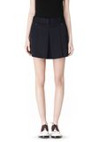 ALEXANDER WANG PLEATED FRONT SKORT WITH STUD DETAIL SKIRT Adult 8_n_d