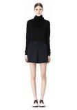 ALEXANDER WANG PLEATED FRONT SKORT WITH STUD DETAIL SKIRT Adult 8_n_f