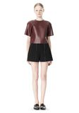 T by ALEXANDER WANG DOUBLE FACE BONDED HIGH WAISTED SHORTS SHORTS Adult 8_n_f