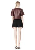 T by ALEXANDER WANG DOUBLE FACE BONDED HIGH WAISTED SHORTS SHORTS Adult 8_n_r