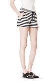 T by ALEXANDER WANG STRIPED FRENCH TERRY SWEATSHORTS SHORTS Adult 8_n_e