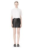T by ALEXANDER WANG RAW EDGE A-LINE LEATHER SKIRT SKIRT Adult 8_n_f