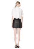 T by ALEXANDER WANG RAW EDGE A-LINE LEATHER SKIRT SKIRT Adult 8_n_r