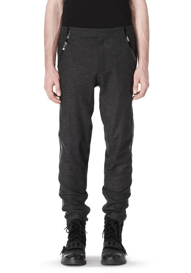 ALEXANDER WANG FRAMISED SEAM TRACK PANT PANTS Adult 12_n_e