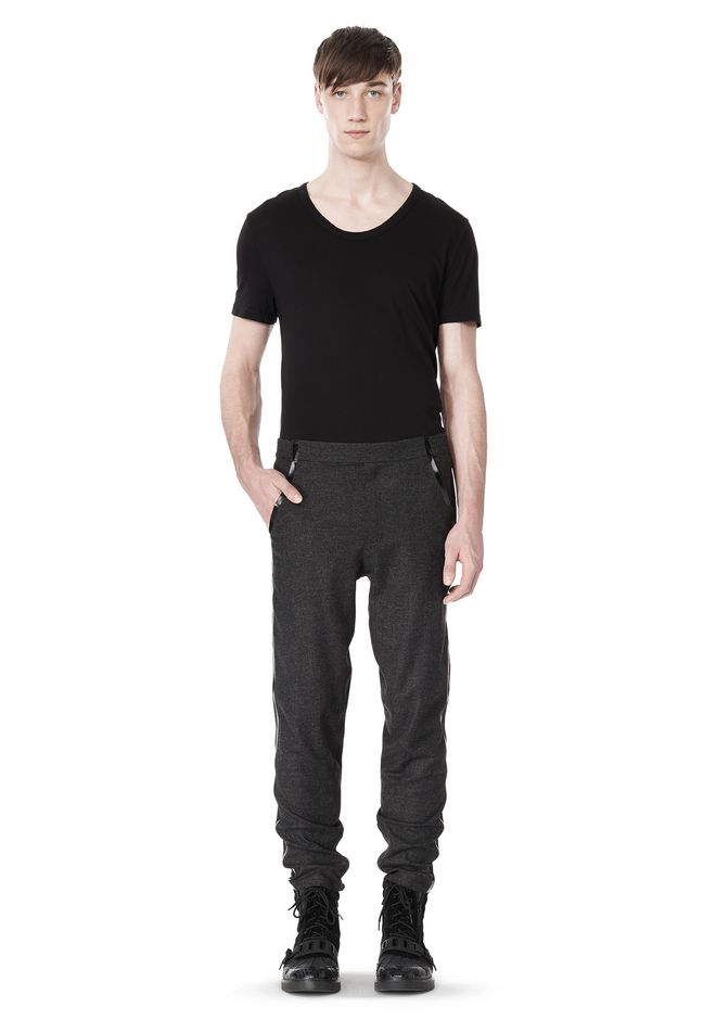 ALEXANDER WANG FRAMISED SEAM TRACK PANT PANTS Adult 12_n_f