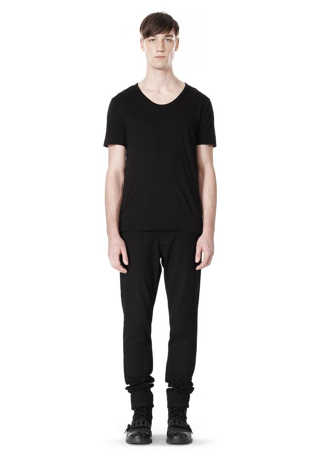 T by ALEXANDER WANG COTTON CANVAS TWILL JEANS WITH LEATHER BACK POCKET PANTS Adult 12_n_f