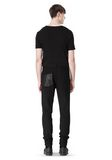 T by ALEXANDER WANG COTTON CANVAS TWILL JEANS WITH LEATHER BACK POCKET PANTS Adult 8_n_r