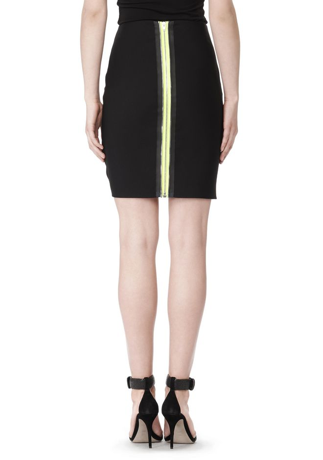 ALEXANDER WANG FITTED PENCIL SKIRT WITH TWO WAY ZIPPER SKIRT Adult 12_n_e