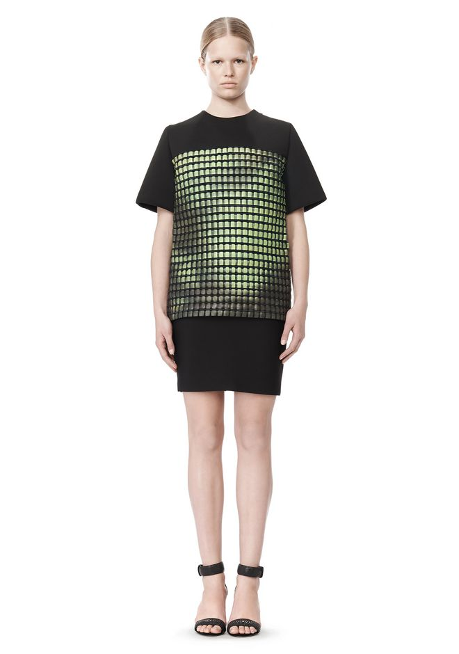 ALEXANDER WANG FITTED PENCIL SKIRT WITH TWO WAY ZIPPER SKIRT Adult 12_n_f