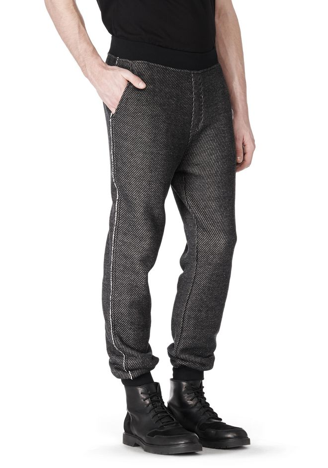 T by ALEXANDER WANG COTTON TWILL KNIT FRENCH TERRY SWEATPANTS PANTS Adult 12_n_a
