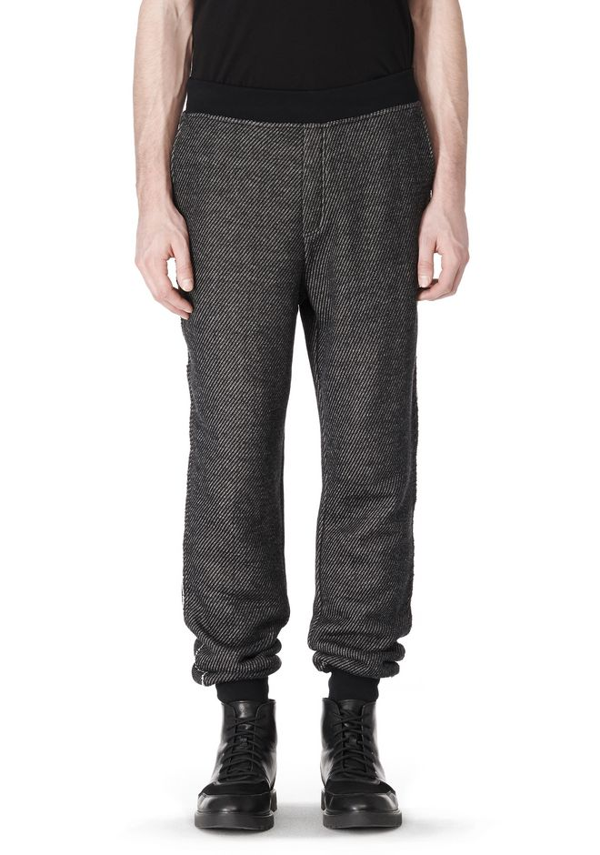 T by ALEXANDER WANG COTTON TWILL KNIT FRENCH TERRY SWEATPANTS PANTS Adult 12_n_e
