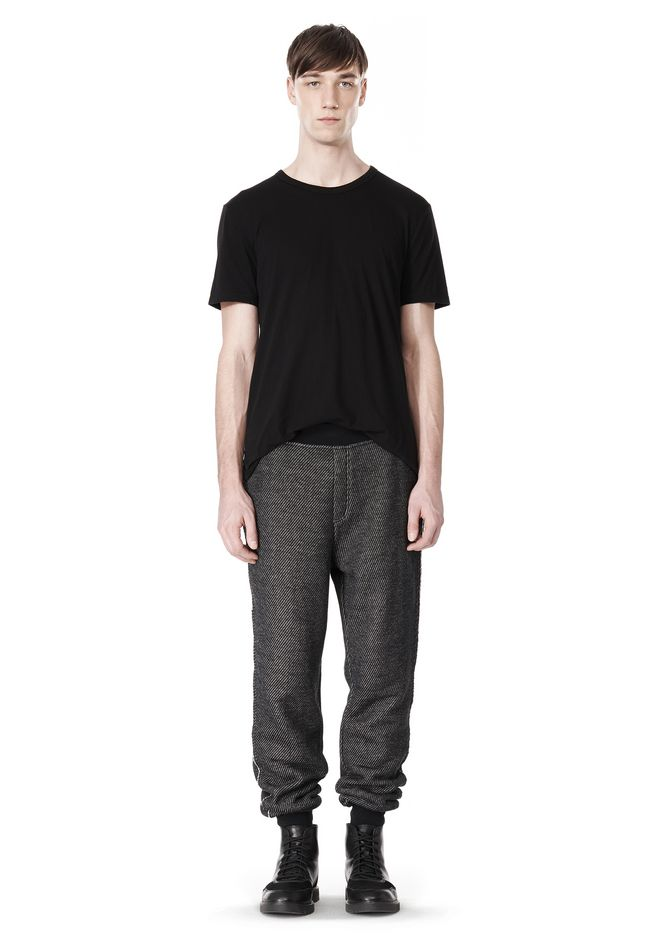 T by ALEXANDER WANG COTTON TWILL KNIT FRENCH TERRY SWEATPANTS PANTS Adult 12_n_f