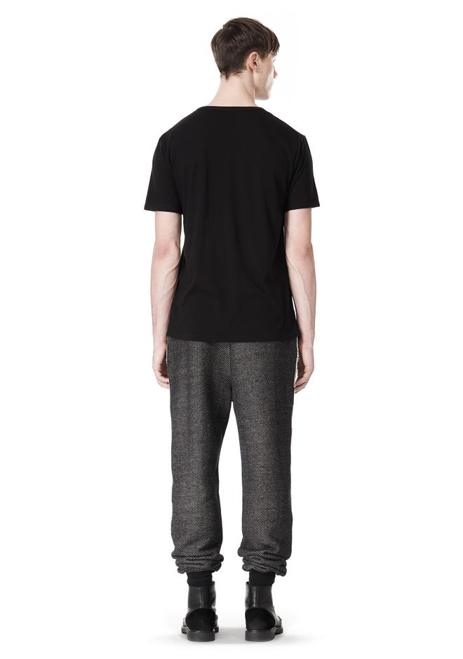 T by ALEXANDER WANG COTTON TWILL KNIT FRENCH TERRY SWEATPANTS PANTS Adult 12_n_r