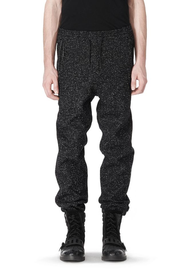 T by ALEXANDER WANG BOUCLE FLEECE TRACK PANTS PANTS Adult 12_n_d