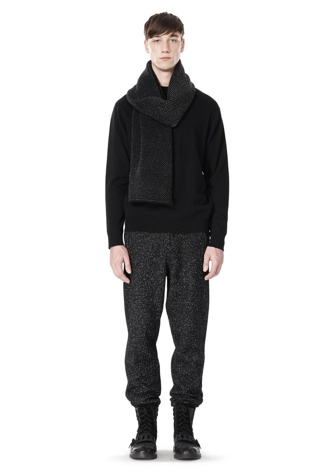 T by ALEXANDER WANG BOUCLE FLEECE TRACK PANTS PANTS Adult 12_n_f