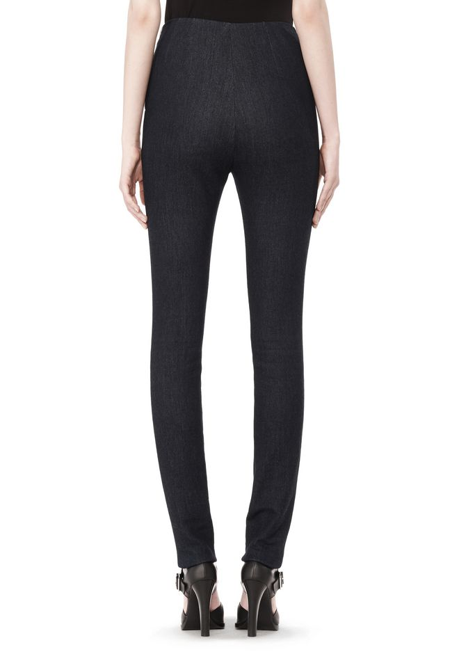T by ALEXANDER WANG STRETCH DENIM TERRY HIGH WAISTED PANT PANTS Adult 12_n_a