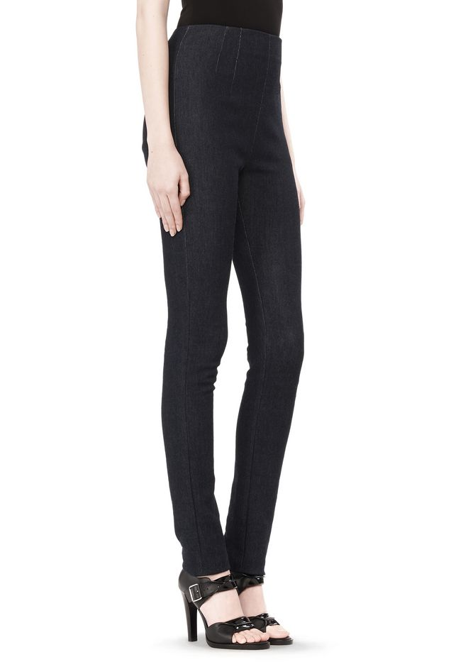 T by ALEXANDER WANG STRETCH DENIM TERRY HIGH WAISTED PANT PANTS Adult 12_n_e