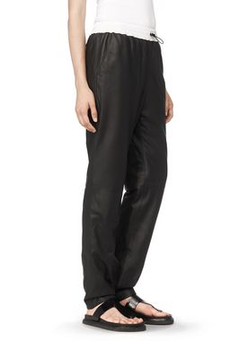 MATTE LAMB TRACK PANTS WITH FOILED WAISTBAND