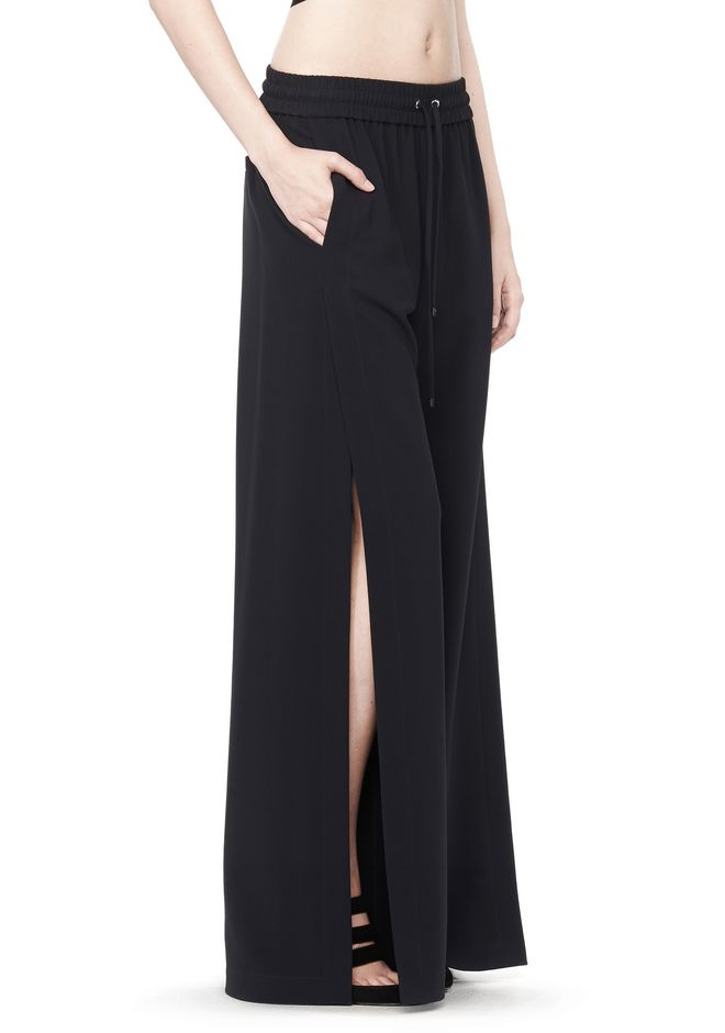 Alexander Wang Drape Suiting Side Slit Pant Pants