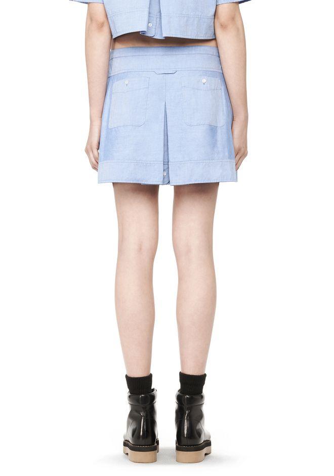 Blue Denim Five-Pocket Zip Miniskirt Alexander Wang Sale Cheapest T27kolF3Z