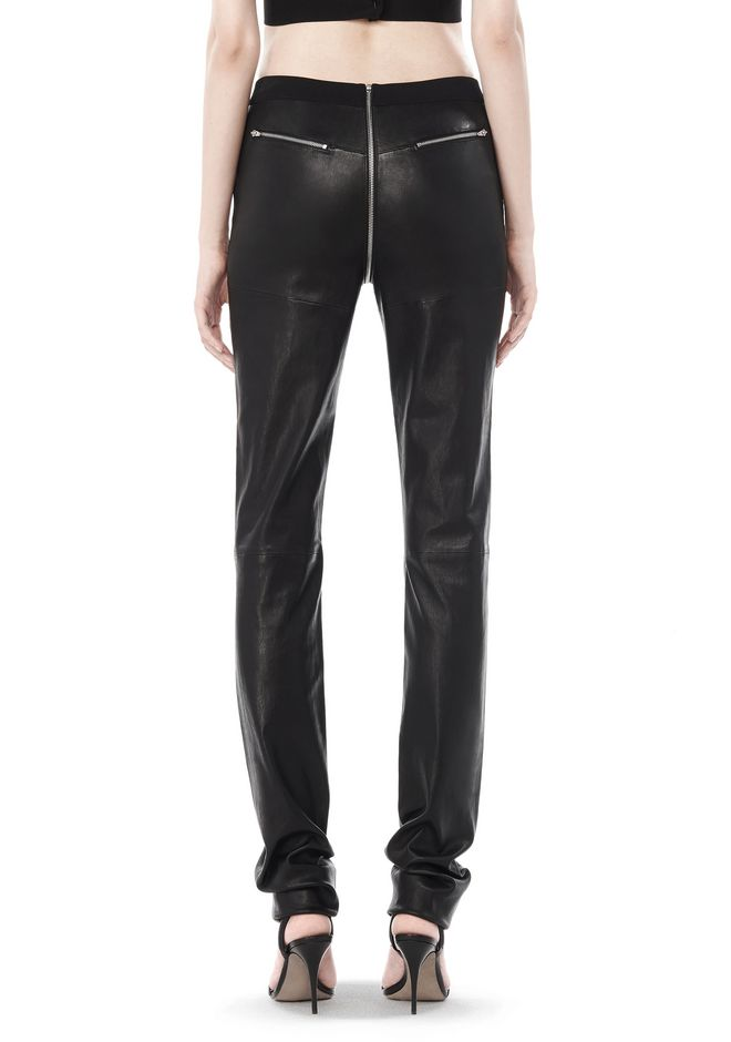ALEXANDER WANG FALL 2008 STRETCH LEATHER PANT    PANTS Adult 12_n_a