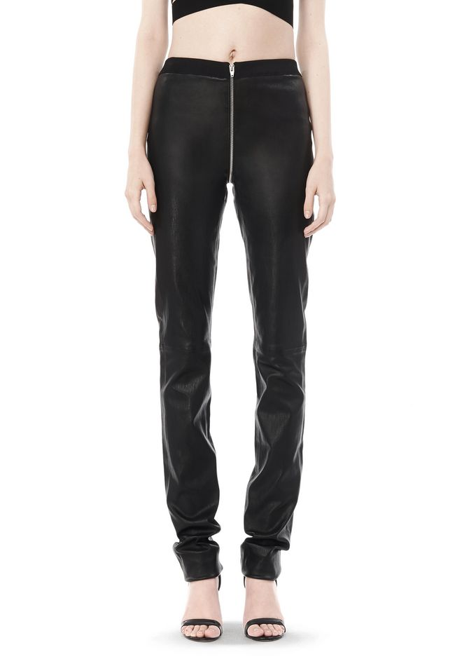 ALEXANDER WANG FALL 2008 STRETCH LEATHER PANT    PANTS Adult 12_n_d