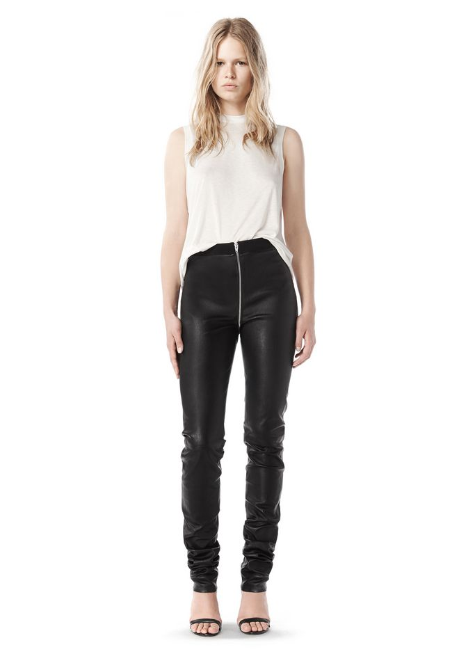 ALEXANDER WANG FALL 2008 STRETCH LEATHER PANT    PANTS Adult 12_n_f