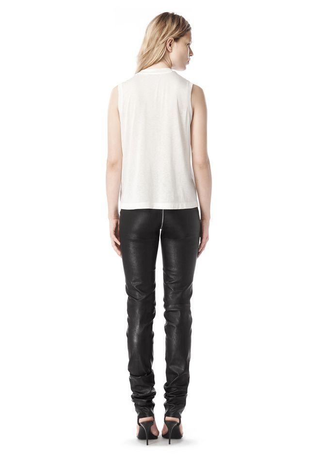 ALEXANDER WANG FALL 2008 STRETCH LEATHER PANT    PANTS Adult 12_n_r