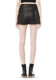 ALEXANDER WANG SPRING 2010 LACE UP LEATHER SHORTS  PANTS Adult 8_n_a