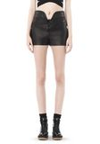 ALEXANDER WANG SPRING 2010 LACE UP LEATHER SHORTS  PANTS Adult 8_n_d