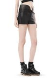 ALEXANDER WANG SPRING 2010 LACE UP LEATHER SHORTS  PANTS Adult 8_n_e