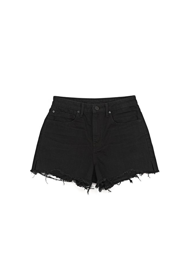 ALEXANDER WANG BITE CUT-OFF DENIM SHORTS DENIM Adult 12_n_a