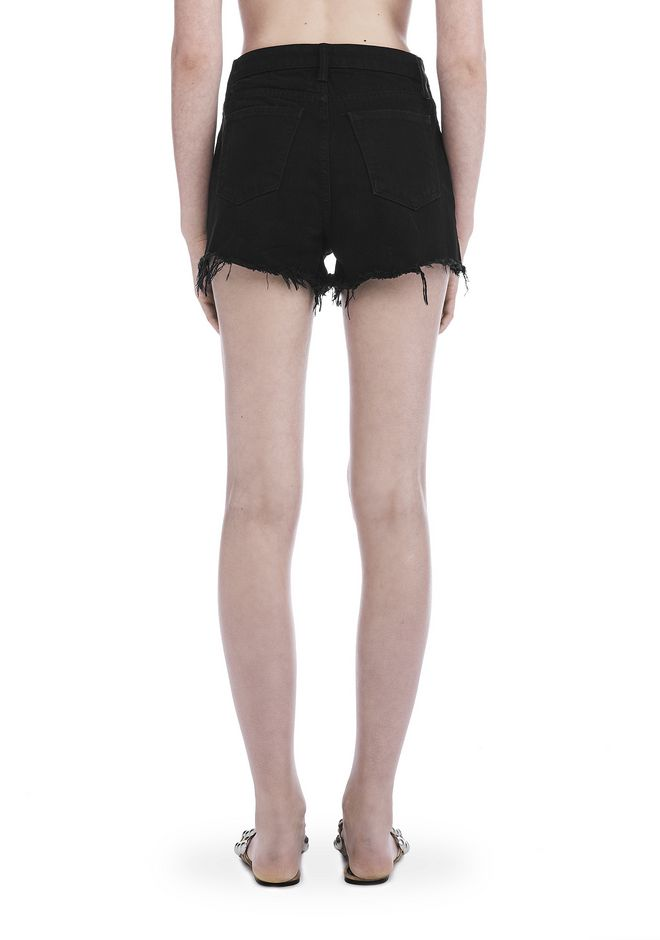 ALEXANDER WANG BITE CUT-OFF DENIM SHORTS DENIM Adult 12_n_d