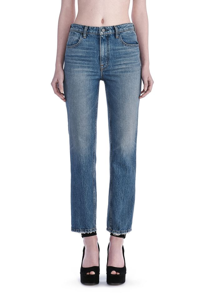 Cheap Sale Geniue Stockist high rise cropped jeans - Grey Alexander Wang Drop Shipping FjusnIpxG