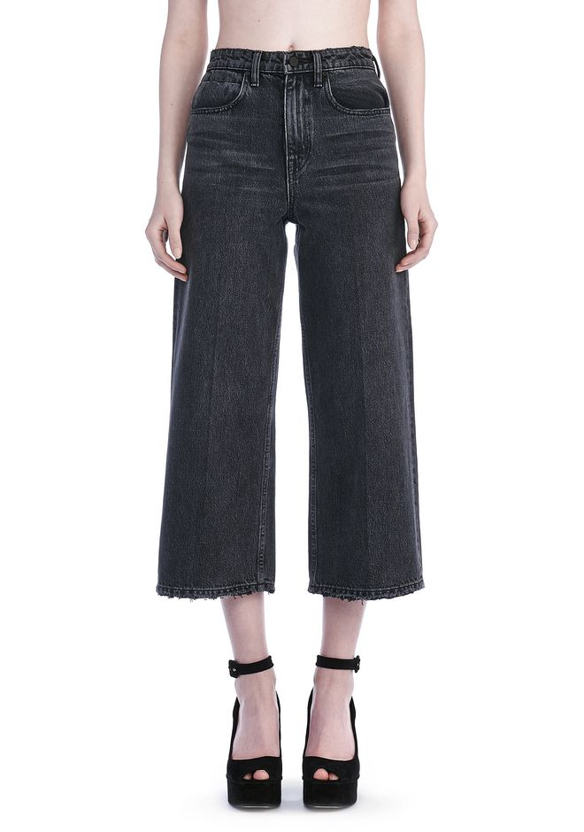 Newest Cheap Online wide leg jeans - Black Alexander Wang Outlet Store For Sale Outlet The Cheapest Wide Range Of For Sale Iny4AOc