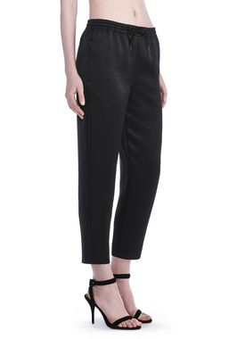 STRETCH SATIN TRACKPANT WITH ELASTIC WAISTBAND