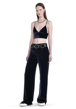SILK VELVET WIDE LEG PANTS