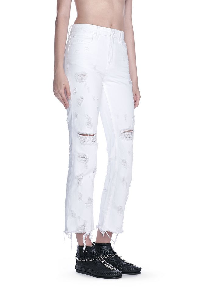 cropped trousers - White Alexander Wang EGFqzkjMkO