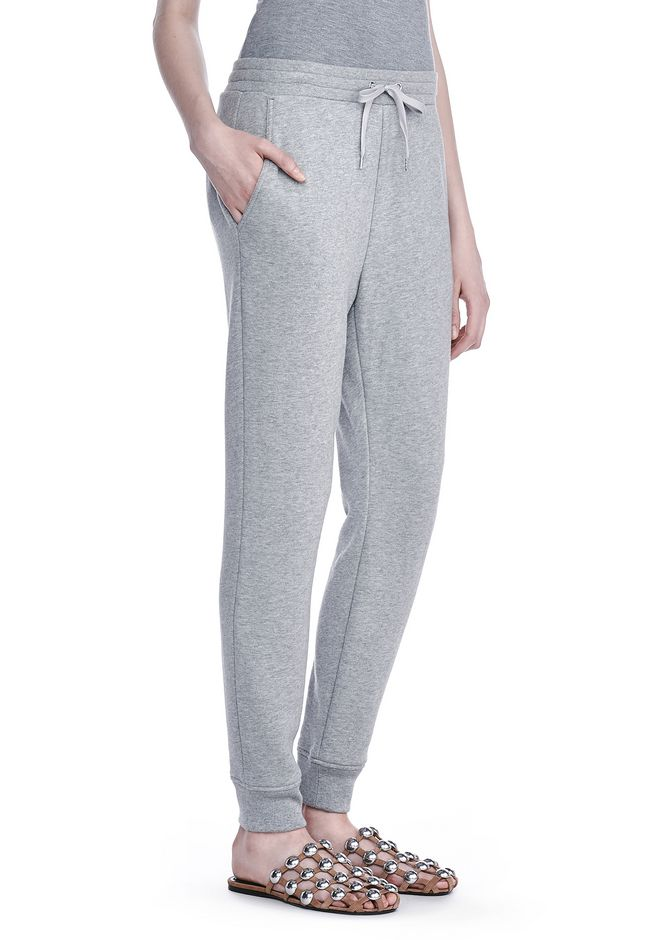 Alexander Wang Soft French Sweatpant Gray - Bottoms