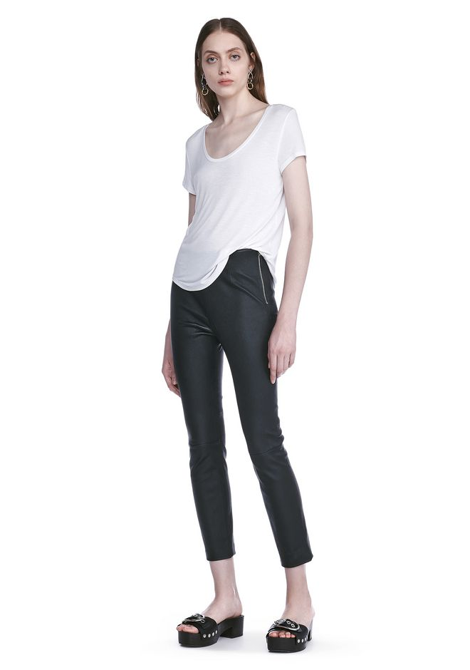 T by ALEXANDER WANG sltbtp STRETCH LEATHER LEGGINGS