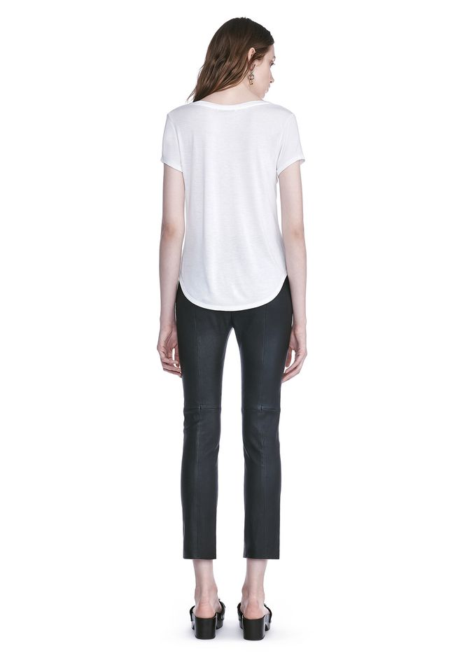 T by ALEXANDER WANG STRETCH LEATHER LEGGINGS  裤装 Adult 12_n_r