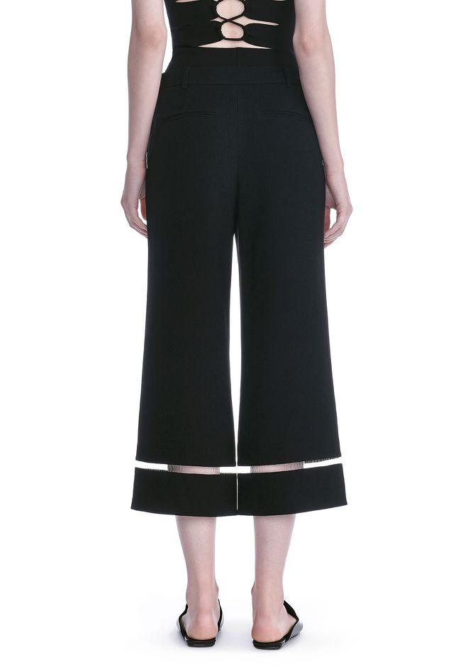 ALEXANDER WANG CROPPED PANT WITH FISHLINE TRIM PANTS Adult 12_n_a