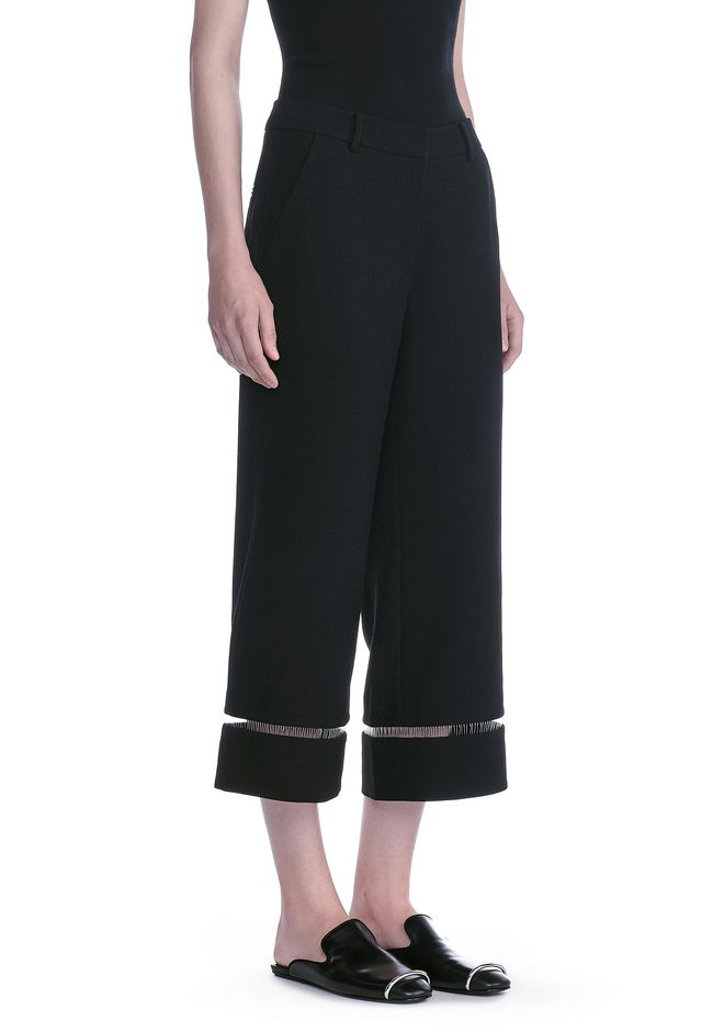 ALEXANDER WANG CROPPED PANT WITH FISHLINE TRIM PANTS Adult 12_n_e