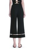 ALEXANDER WANG CROPPED PANT WITH FISHLINE TRIM PANTS Adult 8_n_a