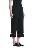 ALEXANDER WANG CROPPED PANT WITH FISHLINE TRIM PANTS Adult 8_n_e