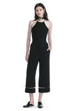 ALEXANDER WANG CROPPED PANT WITH FISHLINE TRIM PANTS Adult 8_n_f