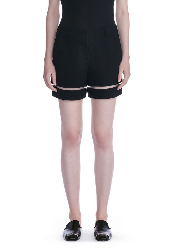 ALEXANDER WANG HIGH WAISTED SHORTS WITH FISHLINE TRIM SHORTS Adult 12_n_d