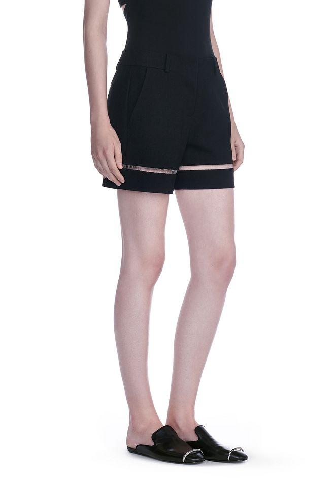 ALEXANDER WANG HIGH WAISTED SHORTS WITH FISHLINE TRIM SHORTS Adult 12_n_e