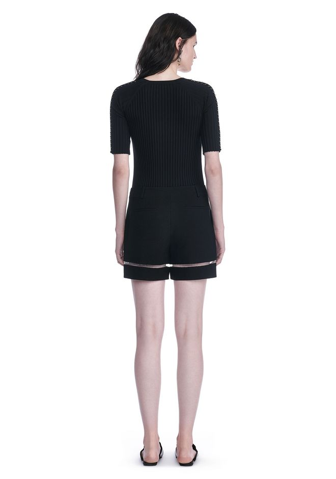 ALEXANDER WANG HIGH WAISTED SHORTS WITH FISHLINE TRIM SHORTS Adult 12_n_r